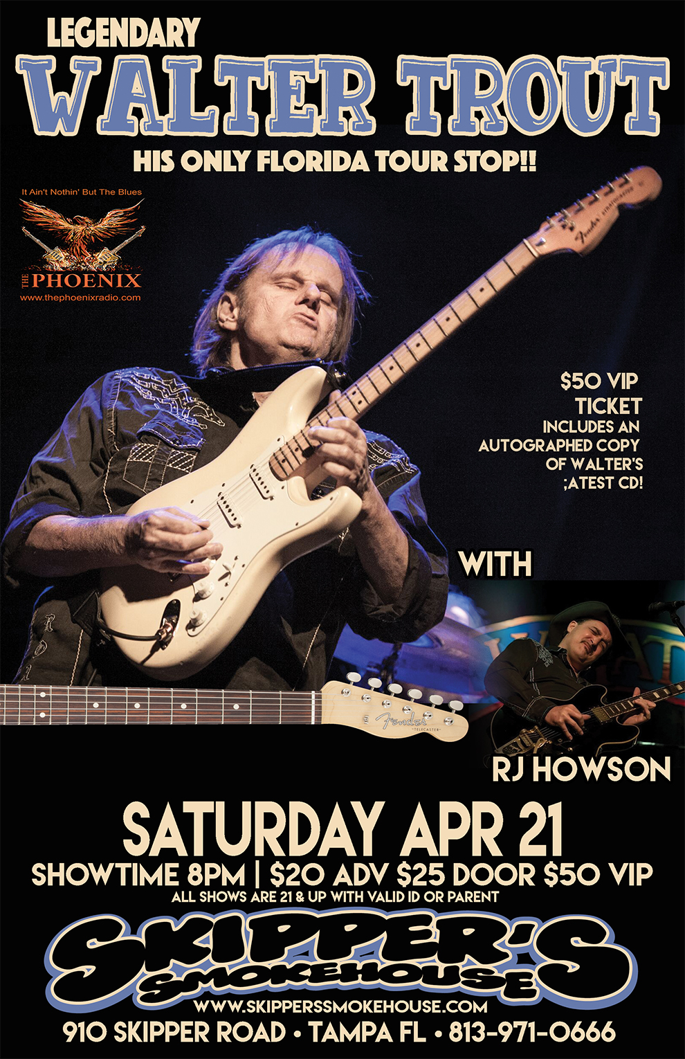 Walter Trout W Rj Howson 2025 And 50 Vip